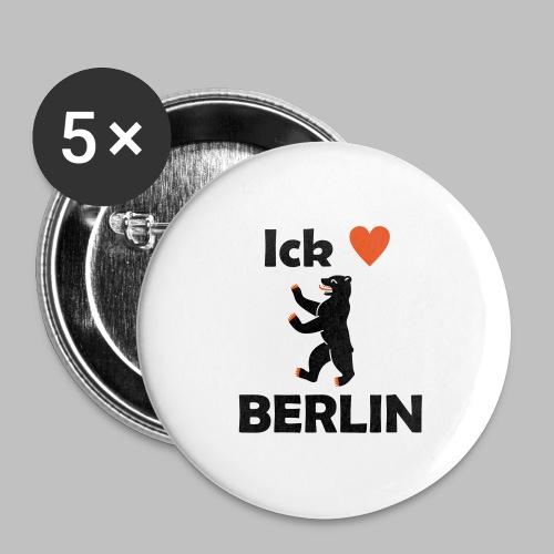 Ick liebe ❤ Berlin - Buttons groß 56 mm (5er Pack)