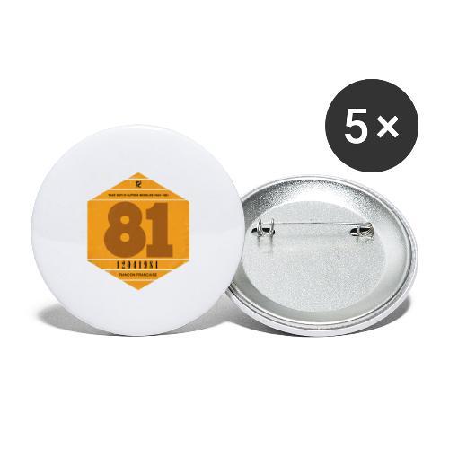 Vignette automobile 1981 - Lot de 5 grands badges (56 mm)