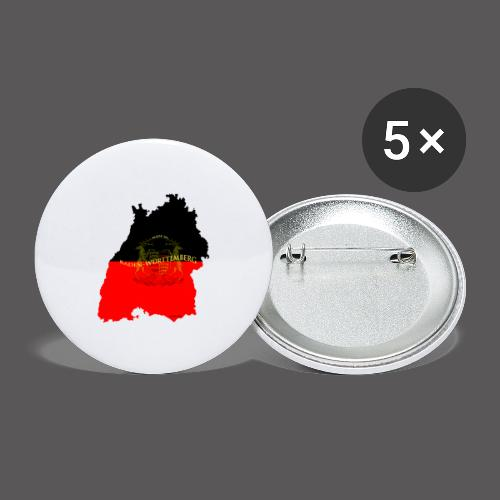 Made in Baden Württemberg - Buttons groß 56 mm (5er Pack)