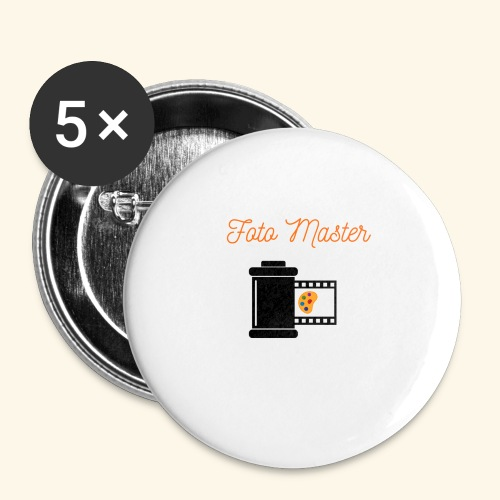 Foto Master 2nd - Buttons/Badges stor, 56 mm (5-pack)
