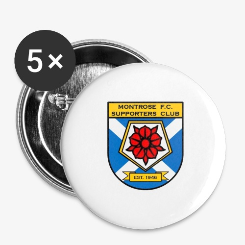 Montrose FC Supporters Club - Buttons large 2.2''/56 mm(5-pack)