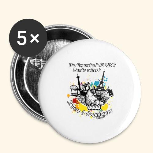 Splash - Lot de 5 grands badges (56 mm)