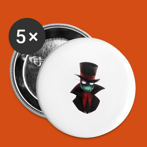 the blackhat - Buttons groot 56 mm (5-pack)