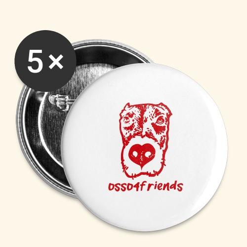 Logo ROSSO TRASPARENTE creative - Confezione da 5 spille grandi (56 mm)