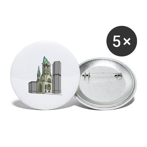Gedächtniskirche BERLIN - Buttons groß 56 mm (5er Pack)