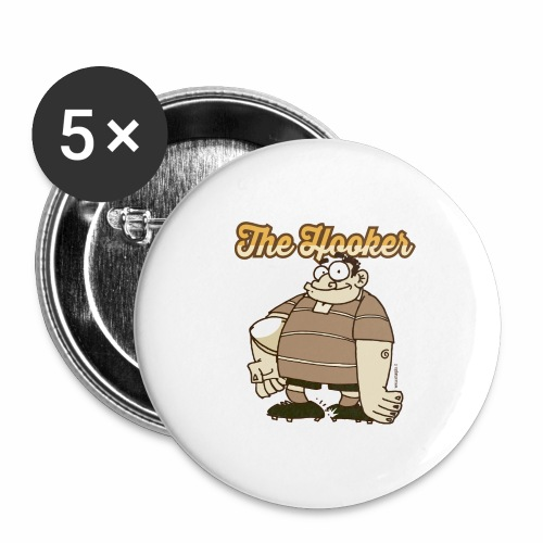 Hooker_Marplo_mug - Confezione da 5 spille grandi (56 mm)