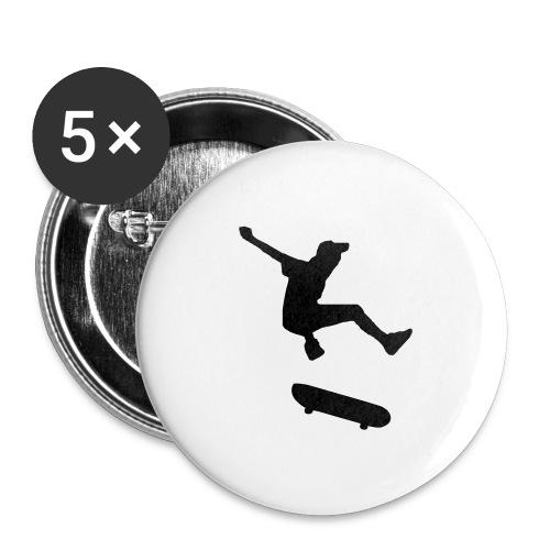 rollbrett skater skateboarding graffity skatepunk - Buttons groß 56 mm (5er Pack)