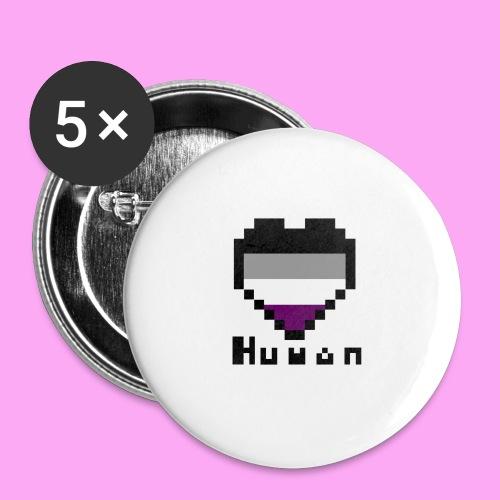 Pride heart asexual - Rintamerkit isot 56 mm (5kpl pakkauksessa)