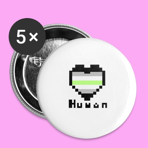 Pride heart agender - Rintamerkit isot 56 mm (5kpl pakkauksessa)
