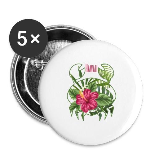 Granchio hawaiano - Confezione da 5 spille grandi (56 mm)