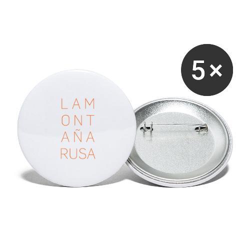 La Montaña Rusa - Paquete de 5 chapas grandes (56 mm)