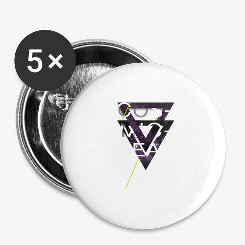 Cosmicleaf Triangles - Buttons large 2.2''/56 mm(5-pack)