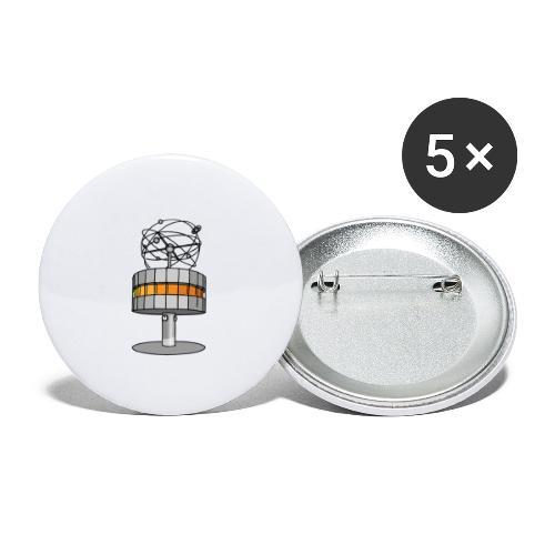Weltzeituhr BERLIN c - Buttons groß 56 mm (5er Pack)