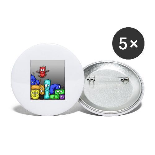 hamstris_farbe - Buttons groß 56 mm (5er Pack)