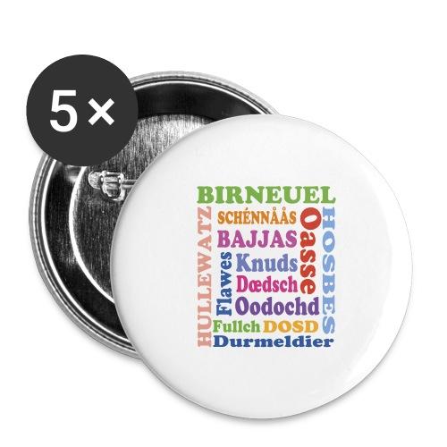schimpf - Buttons groß 56 mm (5er Pack)