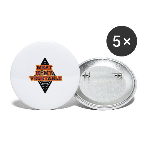 Meat is my Vegetable - Buttons groß 56 mm (5er Pack)