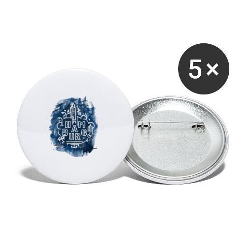 Hamburg_Ink.png - Buttons groß 56 mm (5er Pack)
