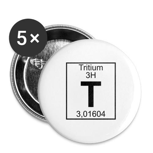 T (tritium) - Element 3H - pfll - Buttons large 2.2''/56 mm(5-pack)