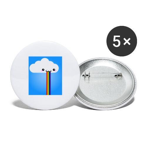 rainbow - Buttons groß 56 mm (5er Pack)
