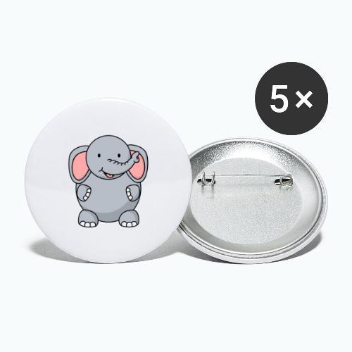Ellie Elephant - Appelsin - Stora knappar 56 mm (5-pack)