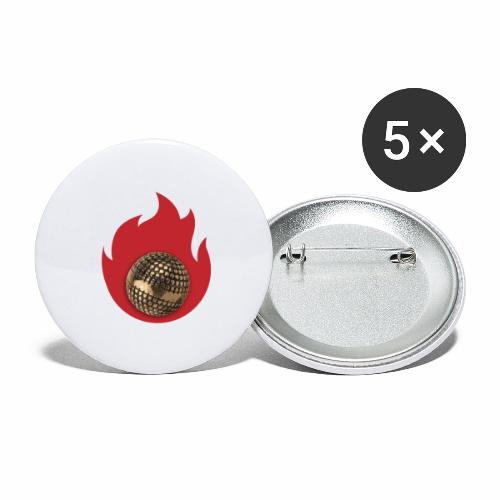 petanque fire - Lot de 5 grands badges (56 mm)
