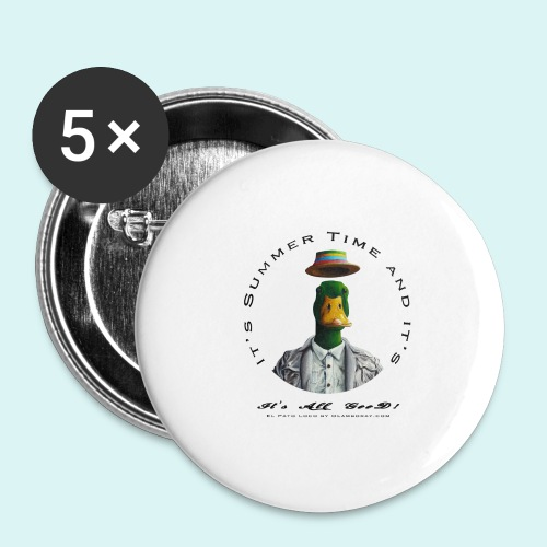 El Pato Loco - Buttons large 2.2''/56 mm(5-pack)
