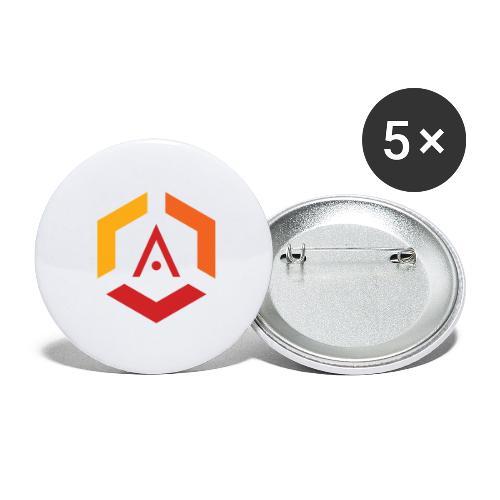 Maglietta Mario Anti-Pro Semplice - Confezione da 5 spille grandi (56 mm)