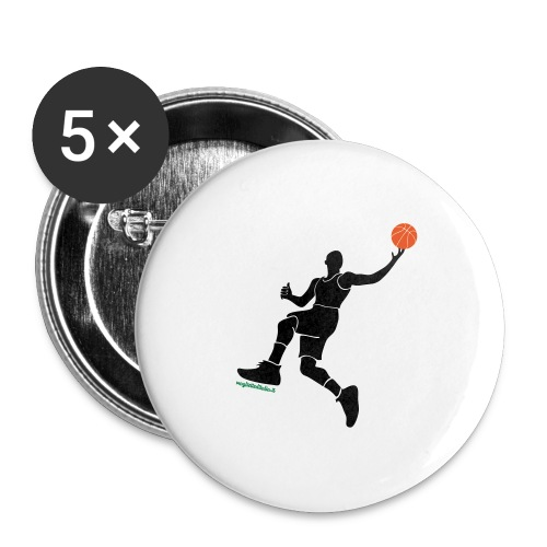 slamdunk_ball - Confezione da 5 spille grandi (56 mm)