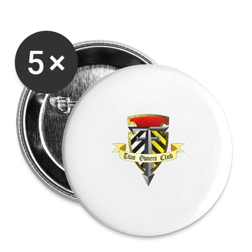 TOC Gothic Clear Background 1 - Buttons large 2.2''/56 mm(5-pack)