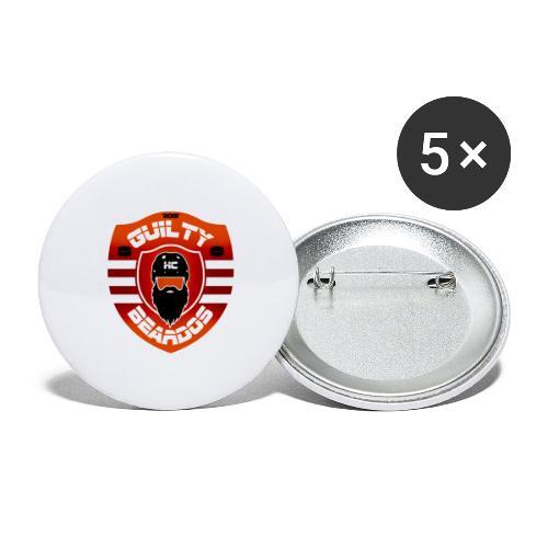 HC Guilty Beardos - Rintamerkit isot 56 mm (5kpl pakkauksessa)