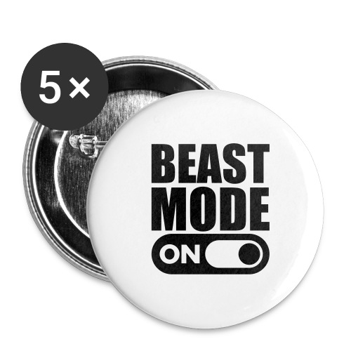 BEAST MODE ON - Buttons large 2.2''/56 mm (5-pack)