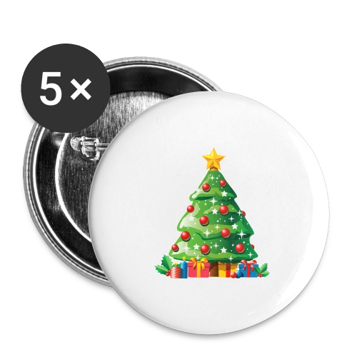 Christmas tree - Buttons groot 56 mm (5-pack)