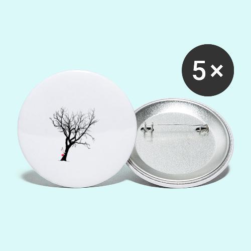 clown arbre - Lot de 5 grands badges (56 mm)