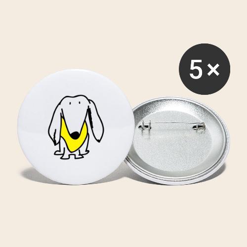Petit mais courageux - Lot de 5 grands badges (56 mm)