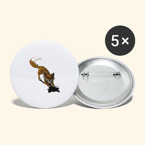 How to live - bewusst - verspielt - Fuchs - Buttons groß 56 mm (5er Pack)