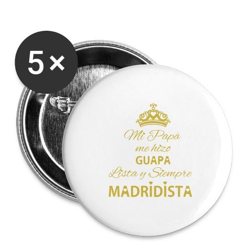 guapa lista siempre madridista - Confezione da 5 spille grandi (56 mm)