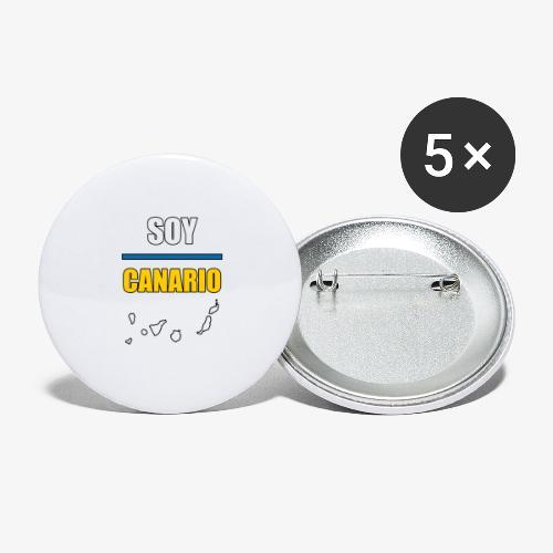Soy Canario - Paquete de 5 chapas grandes (56 mm)