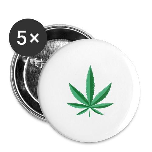 marijuana leaf 23 2147502 - Confezione da 5 spille grandi (56 mm)