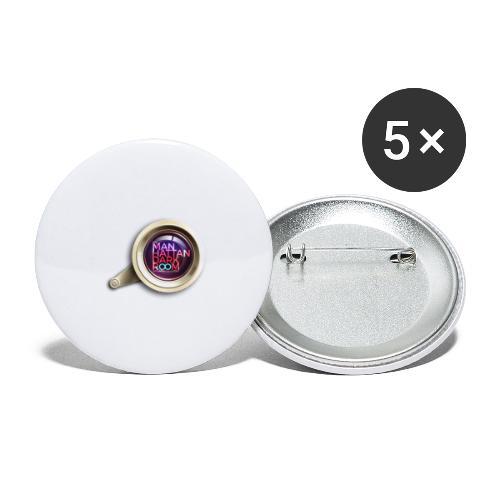 THE MANHATTAN DARKROOM OBJECTIF - Lot de 5 grands badges (56 mm)