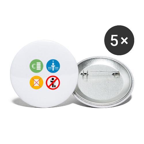 4kriteria ubi vierkant trans - Buttons groot 56 mm (5-pack)