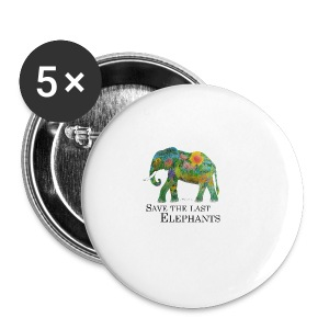 Save The Last Elephants - Buttons groß 56 mm