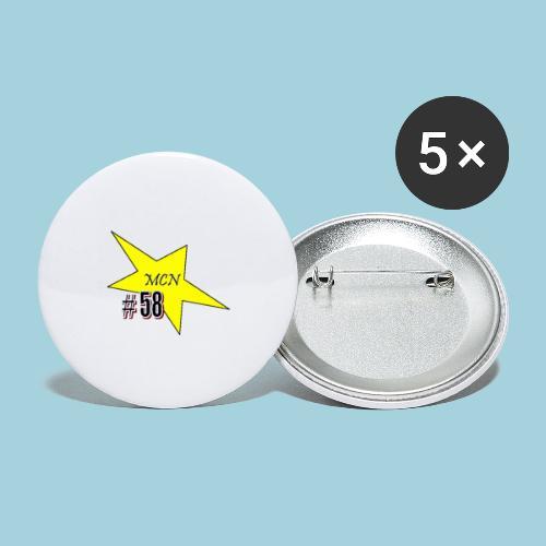 MCN Stern - Buttons groß 56 mm (5er Pack)