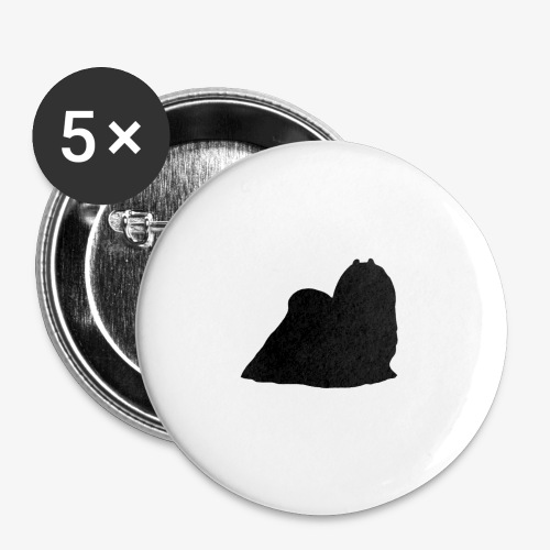 Maltese - Buttons large 2.2''/56 mm(5-pack)