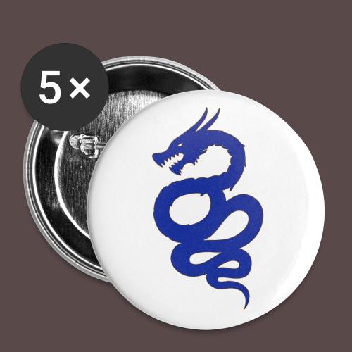 Biscione Drago - Confezione da 5 spille grandi (56 mm)
