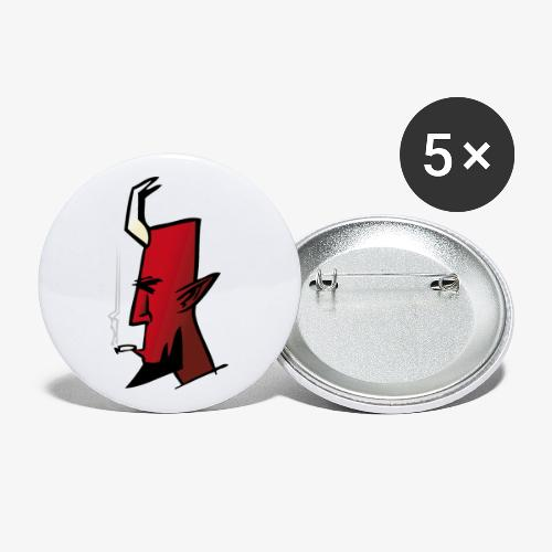Smokin' Satan - Stora knappar 56 mm (5-pack)