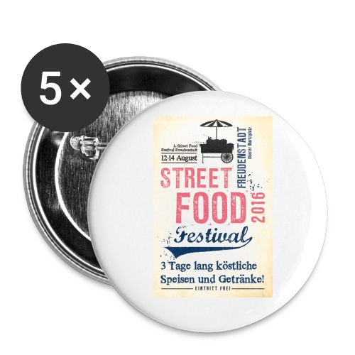 streetfood1 - Buttons groß 56 mm (5er Pack)