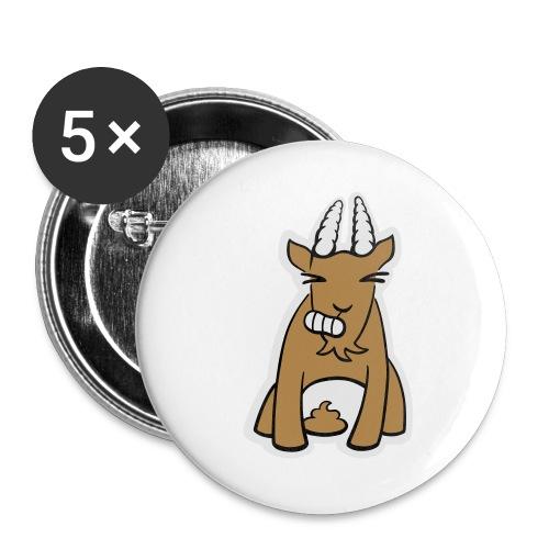 Scheissbock - Buttons groß 56 mm (5er Pack)