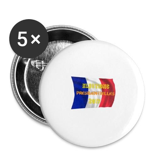 ELECTIONS 2017 - Lot de 5 grands badges (56 mm)