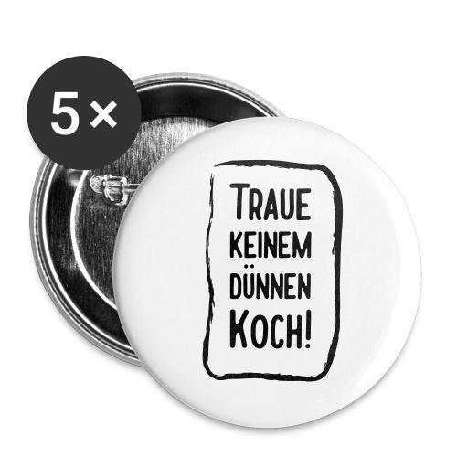 Dünner Koch schlechter Koch Mutti kocht am besten! - Buttons groß 56 mm (5er Pack)