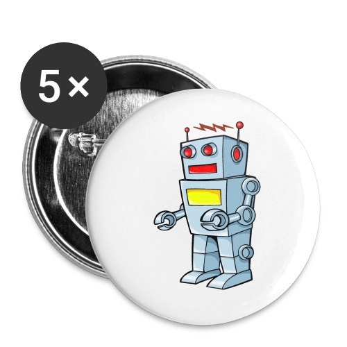 Robot - Confezione da 5 spille grandi (56 mm)